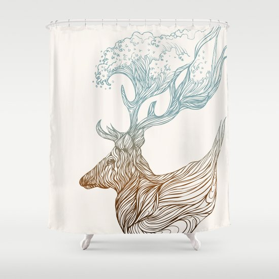 To The Ocean Shower Curtain