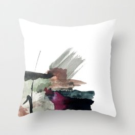 Begin [3]: a minimal abstract mixed media piece Throw Pillow