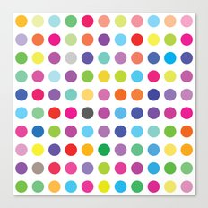 Colourful Dots  Canvas Print