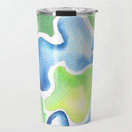 170623 Colour Shapes Watercolor 5| Abstract Shapes Drawing | Abstract Shapes Art Travel Mug