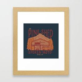 The Pine Shed | Blue  Framed Art Print