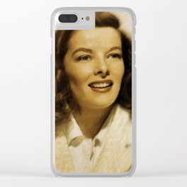 Katharine Hepburn Clear iPhone Case