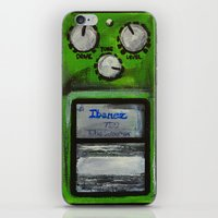 "u2 iPhone & iPod Skins featuring Ibanez TS-9 Tube Screamer Guitar Pedal acrylics on 5"" x 7"" canvas board by James Peart"