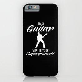 i teach guitar iPhone Case