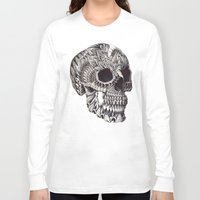 bioworkz Long Sleeve T-shirts featuring Ornate Skull by BIOWORKZ