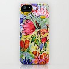 Pastel Flower Swirls iPhone (5, 5s) Slim Case