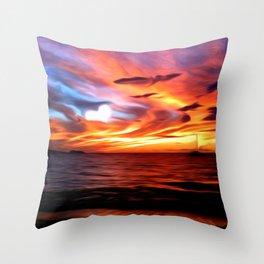 Honeymoon Sunset Throw Pillow