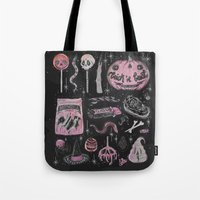 loll3 Tote Bags featuring Trick 'r Treat by lOll3