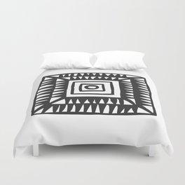 Tribal Print B&W- 02 Duvet Cover