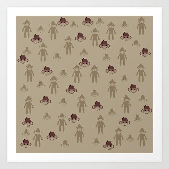 Little Sock Monkeys Art Print