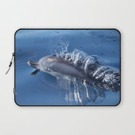 Dolphins and bubbles Laptop Sleeve