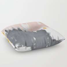 Gray and pink abstract Floor Pillow