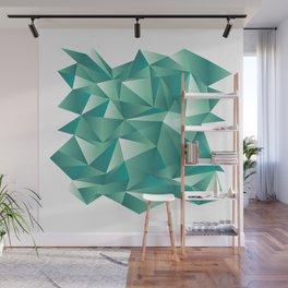 geometric pattern green art Wall Mural