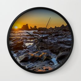 Rocky Sunset Wall Clock