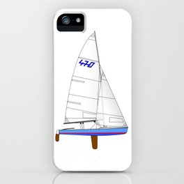 470 Olympic Sailboat iPhone Case