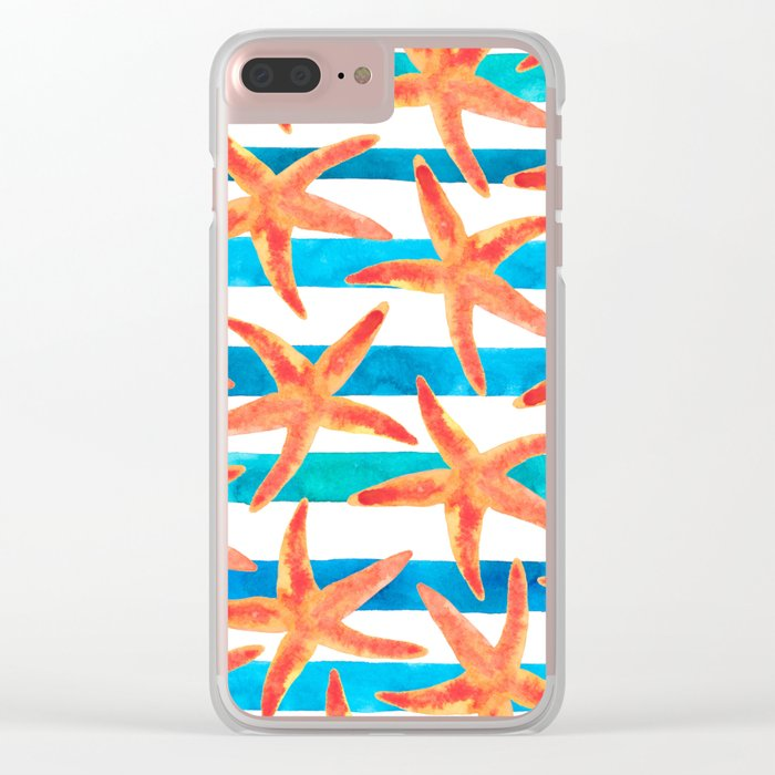 Starfish Tropics Clear iPhone Case
