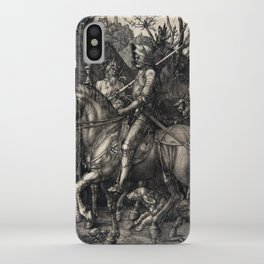 Albrecht Dürer Knight, Death and the Devil iPhone Case