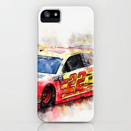 Joey Logano on Fire iPhone Case