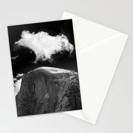 Half Dome Looms on a Cold Spring Day and a Cloud Grows on the Updraft Stationery Cards