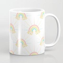 Rainbow Stars Large Coffee Mug