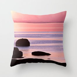 Lines in the Sea Throw Pillow