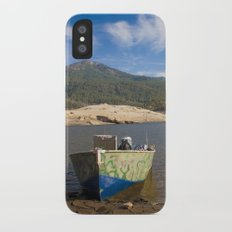 Boat At Water's Edge iPhone X Slim Case