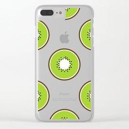 Kiwi summer fruit Clear iPhone Case