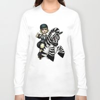 roller derby Long Sleeve T-shirts featuring Roller Derby Referee Zebra by RonkyTonk