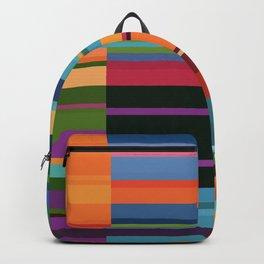Colorful Retangles Abstract Art Digitalart Home Decor Gift Backpack