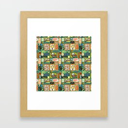 Reading and Writing Framed Art Print