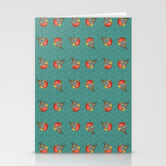 Puki Owl Pattern Stationery Cards