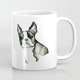Keeping Alert - French Bulldog / Boston Terrier Art Coffee Mug