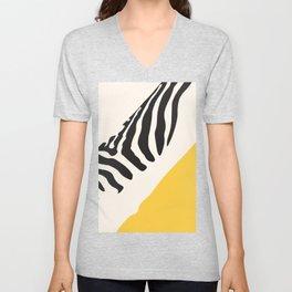 Zebra Abstract Unisex V-Neck