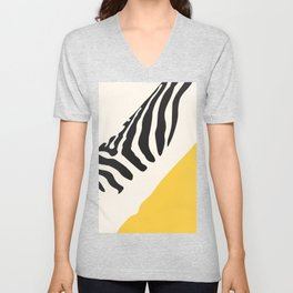Zebra Abstract Unisex V-Neck