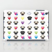 emoji iPad Cases featuring Emoji Pug  by Huebucket