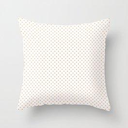 Small Pumpkin Orange on White Polka Dots Throw Pillow