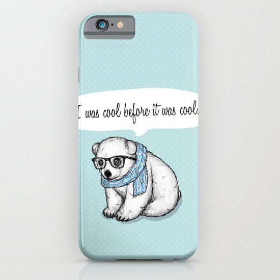 Hipster polarbear iPhone & iPod Case