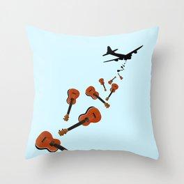 Uke Em Throw Pillow