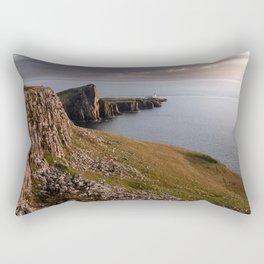 The Neist Point Lighthouse - cliffs, nature, landscape, sunset, beacon, scotland, isle of skye Rectangular Pillow