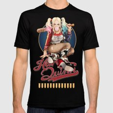 Harley Quinn LARGE Black Mens Fitted Tee