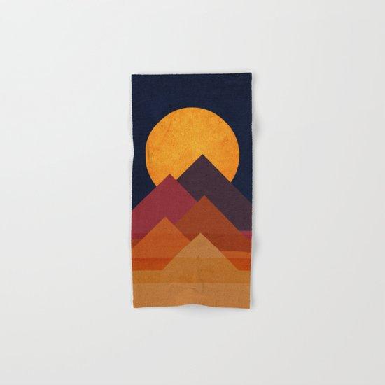 Full moon and pyramid Hand & Bath Towel