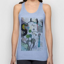 """Toucan and penguins"" Unisex Tank Top"