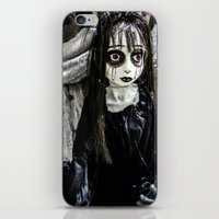 goth iPhone & iPod Skins featuring Goth Girl by Nevermind the Camera