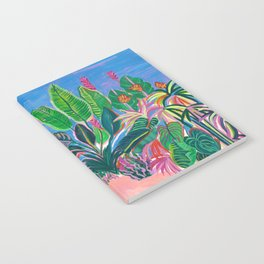 Tropical Patio Print Notebook