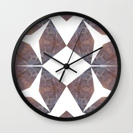 Rust and Concrete Wall Clock