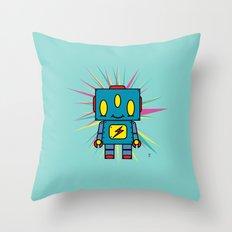 Vintage Kid Robot Throw Pillow