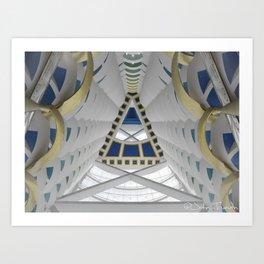 Inside the Burj Al Arab Art Print