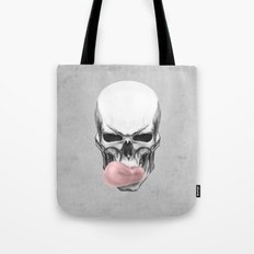 Skull chewing bubblegum Tote Bag