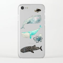 Whales and friends Clear iPhone Case