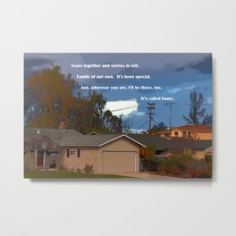 """Storm Clouds #10"" Photo with poem Metal Print"